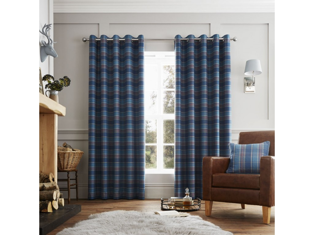 Curtina Cameron Teal Eyelet Curtains and Cushions