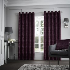 Curtina Downton Purple Eyelet Curtains and Cushions