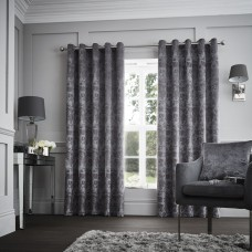 Curtina Downton Graphite Eyelet Curtains and Cushions