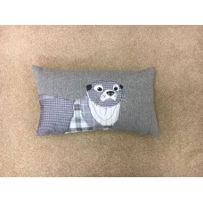 Dreams n Drapes Herringbone Silver Otter Cushion