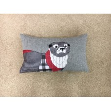 Dreams n Drapes Herringbone Red Otter Cushion