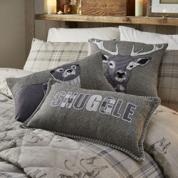 Dreams n Drapes Herringbone Silver Cushion Collection