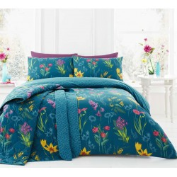 Dreams n Drapes Ingrid Teal Duvet Cover Sets and Coordinates