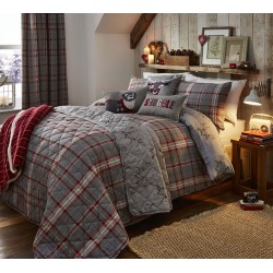 Dreams n Drapes Ludlow Silver Duvet Cover Sets and Coordinates