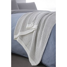 Appletree Metro Grey Knitted Throw