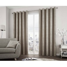Curtina Solent Stone Eyelet Curtains and Cushions