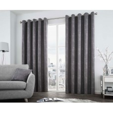 Curtina Solent Graphite Eyelet Curtains and Cushions
