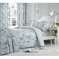 Dreams n Drapes Tulip Duck Egg Duvet Cover Sets and Coordinates