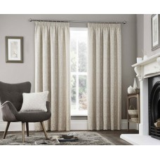 Curtina Valda Natural Pencil Pleat Curtains and Cushions