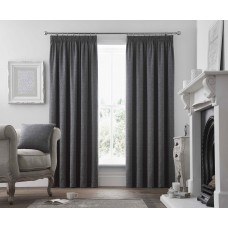 Curtina Voysey Graphite Pencil Pleat Curtains and Cushions