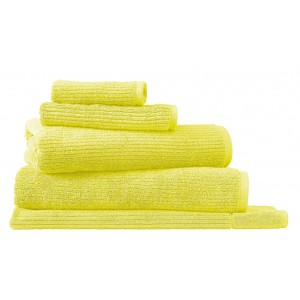 Sheridan New Hygro Living Textures Citron Towels and Mat