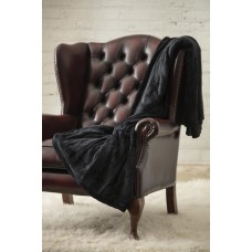 Heat Holders Luxury 1.7 tog Black Fleece Blankets