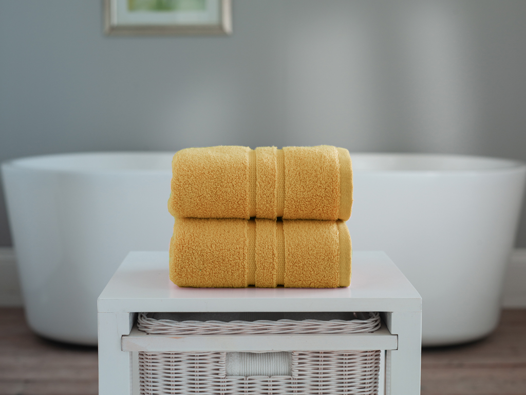 The Lyndon Company Chelsea Zero Twist Mustard Cotton Towels