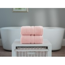 The Lyndon Company Chelsea Zero Twist Pink Cotton Towels
