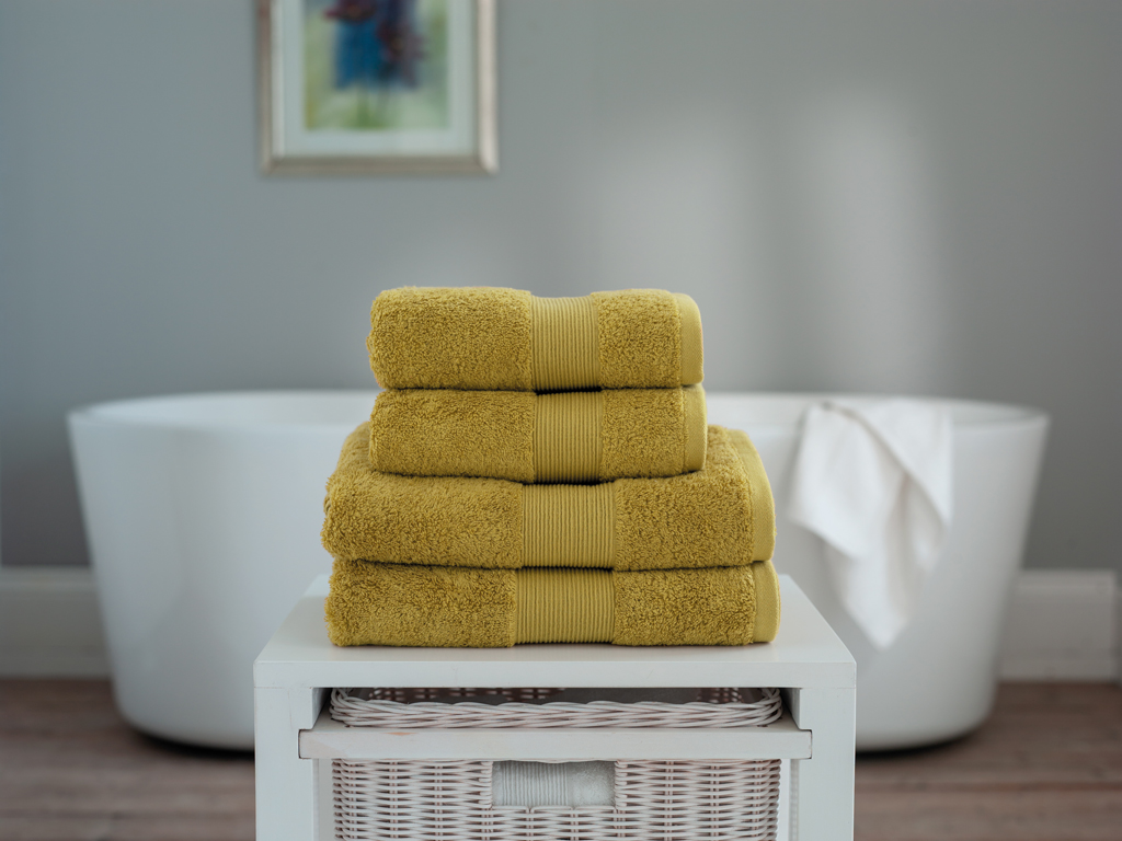 The Lyndon Company Cleopatra Egyptian Cotton Mustard Towels