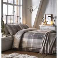 Dreams n Drapes New Colville Check Grey Duvet Cover Sets