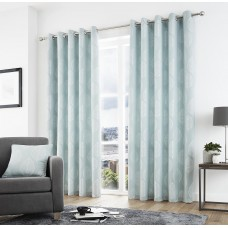 Curtina Helsinki Eyelet Duck Egg Curtains and Cushions