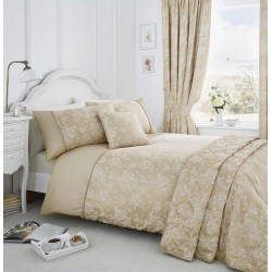 Serene Jasmine Champagne Duvet Cover Sets and Coordinates