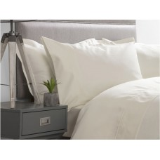 Belledorm 600 Thread Count Premium Cotton Flat Sheets In Ivory