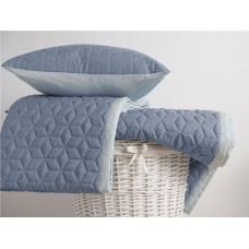 Belledorm Panama Duckegg Quilted Bedspread, Runner and Cushion