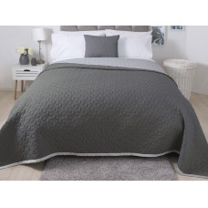Belledorm Panama Grey Quilted Bedspread, Runner and Cushion