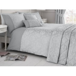 Serene New Blossom Silver Duvet Cover Sets and Coordinates