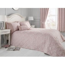 Serene Blossom Blush Quilted Bedspread