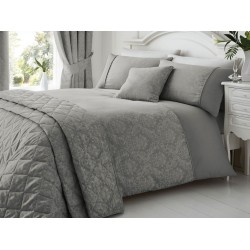Serene New Laurent Graphite Duvet Cover Sets and Coordinates