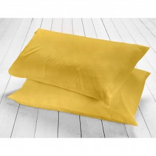 Racing Green New 200 Thread Count Ochre Pillowcases
