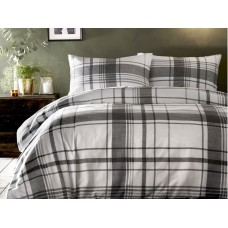 Appletree New Brampton Check Grey Duvet Cover Sets