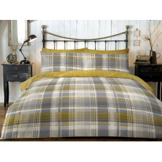 Dreams n Drapes New Connolly Check Ochre Duvet Cover Sets