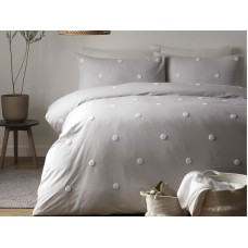 Appletree Signature Dot Garden Silver/White Duvet Cover Sets