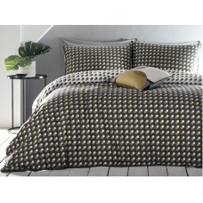 Appletree Echo Spots Grey and Ochre Duvet Cover Sets
