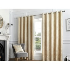 Curtina Feather Natural Eyelet Curtains and Cushions