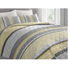 Dreams n Drapes New Hanworth Ochre Quilted Bedspread