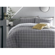 Appletree Harvard Check Grey Duvet Cover Sets