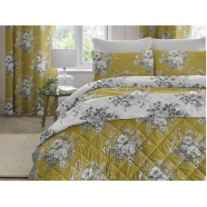 Dreams n Drapes New Mirabella Ochre Quilted Bedspread