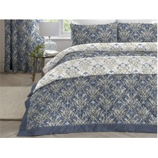 Dreams n Drapes New Ventino Blue Quilted Bedspread