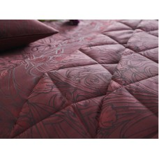 Laurence Llewelyn-Bowen New Florian Claret Quilted Bedspread
