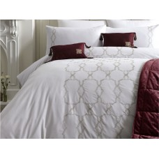 Laurence Llewelyn-Bowen Lido White and Gold Duvet Cover Sets