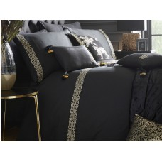 Laurence Llewelyn-Bowen Monoglam Black and Gold Duvet Cover Sets