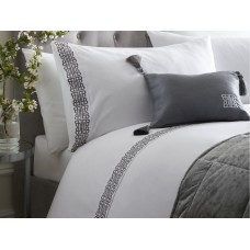 Laurence Llewelyn-Bowen Monoglam White and Silver Duvet Cover Sets