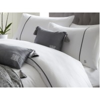 Laurence Llewelyn-Bowen New Savoy Stripe White Duvet Cover Sets