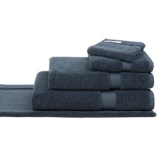 Sheridan Organic Cotton Ink Navy Eden Towels and Bath Mat