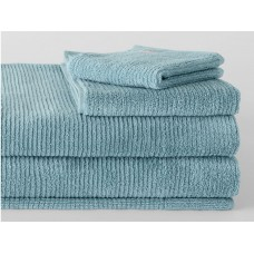 Sheridan Hygro Living Textures Misty Teal Towels and Mat