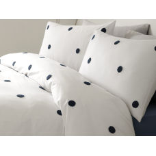 Appletree Signature Dot Garden White with Navy Duvet Cover Sets