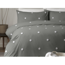 Appletree Signature Dot Garden White with Charcoal Duvet Cover Sets