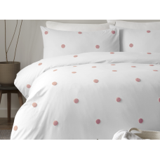 Appletree Signature Dot Garden White with Pink Duvet Cover Sets