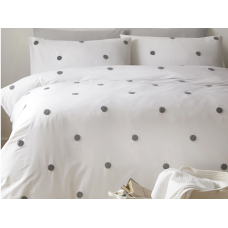 Appletree Signature Dot Garden White with Slate Duvet Cover Sets