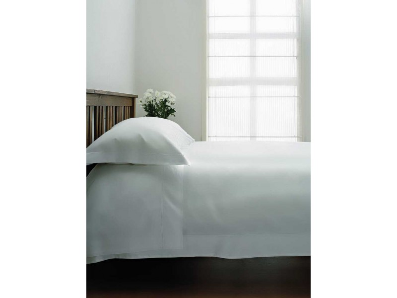 Belledorm 400 Thread Count Sateen Egyptian Cotton White Flat Sheets